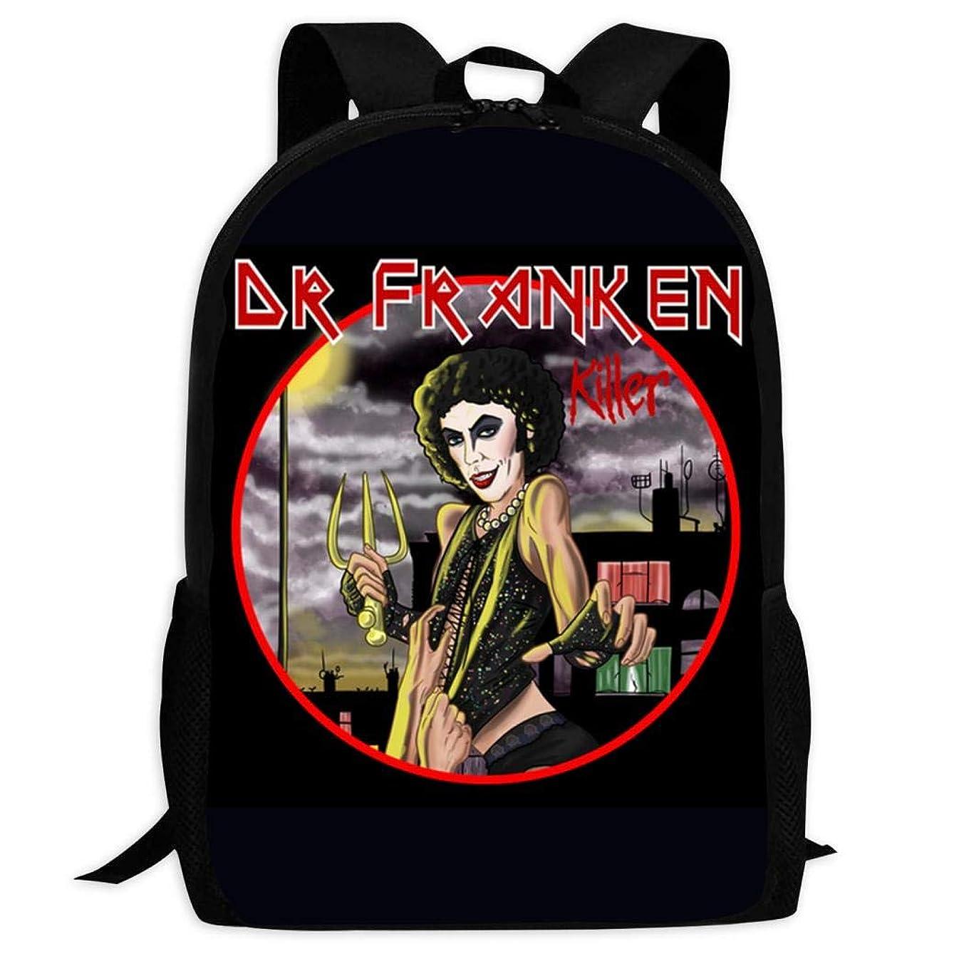 知覚する上がる自伝3D Drfranken スクールバッグボトルサイドポケット付きの子供のバックパックの軽量ファッションの女の子