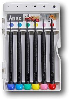 アネックス(ANEX) 精密ドライバー 6本組 プラス・マイナス スタンドケース付 No.900