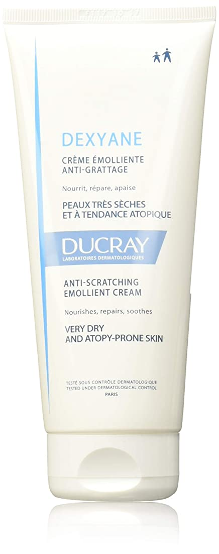 柔らかい足混乱受け皿Ducray Dexyane Anti-scratching Emollient Cream 200ml [並行輸入品]