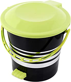 Kuber Industries Plastic Dustbin Garbage Bin with Handle, 5 Litres (Green) -CTKTC043060