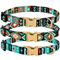 CollarDirect Nylon Dog Collar with Buckle Tribal Pattern Puppy Adjustable Collars for Dogs Small Medium Large