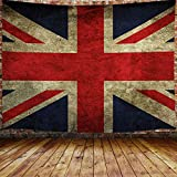 JAWO British Flag Tapestry, Vintage United Kingdom England UK Flag Decor Upgrade Tapestries Wall Hanging for Bedroom College Dorm, TV Backdrop Table Cloth Profession Home Decor 60X40 Inches