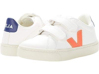 VEJA Kids Small Esplar Velcro (Little Kid/Big Kid) (Extra-White/Orange-Fluo/Cobalt) Kid