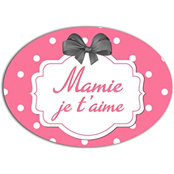 YONACREA MAGNET COEUR Mamie Je taime Fond Rouge