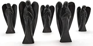 "3"" inch Shungite Crystal Angel, Guardian Angel - Angel Figurine/Angels Figurines   Healing Crystals & Healing Stones (Pock..."
