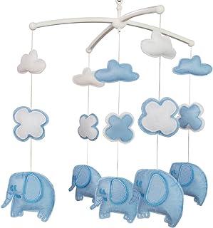 Musique Berceau Mobile Cadeau de naissance fait à la main pour fille ou garçon Éléphants