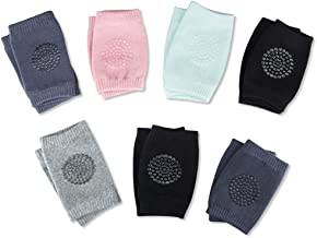 7 Pairs Baby Crawling Anti-Slip Knee Pads Unisex of High Elastic Sponge Gift Set for Baby Girls or Boys