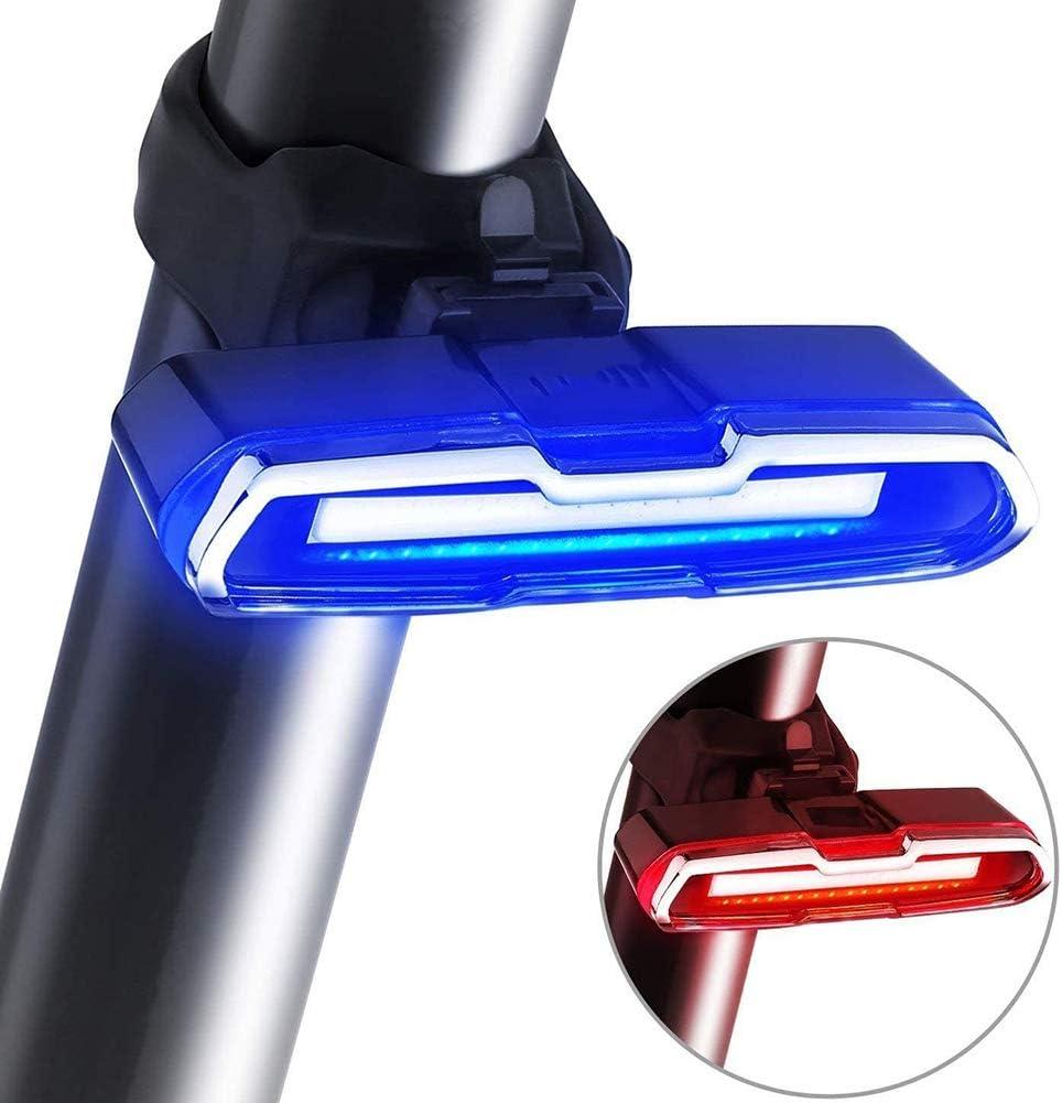 USB wiederaufladbar BINGXIAN Fahrrad-R/ücklicht Ultra helles Fahrradlicht 6 Beleuchtungsmodi LED Fahrrad-R/ücklicht wasserdichtes R/ücklicht f/ür sicheres Radfahren