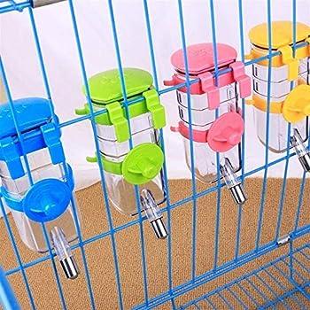 KANGLE-DERI Fournitures pour Animaux Gobelet pour Animaux De Compagnie Petit Animal Cage À Hamster Bouilloire Suspendue Dispositif D'arrosage Automatique Boire 350ML Couleurs Aléatoires