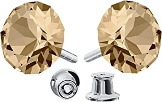 Beforya Paris - Wonder Brilliants - Silver 925 Studs - Many Colours - Earrings for Woman - Earrings with Swarovski® crystals - Jewellery with Bag and Jewellery Box PIN/75