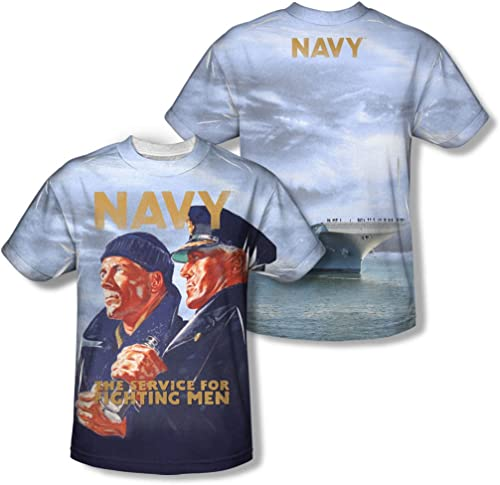 Navy - Gaze long pour hommes (Front   Back Imprimer) T-shirt -