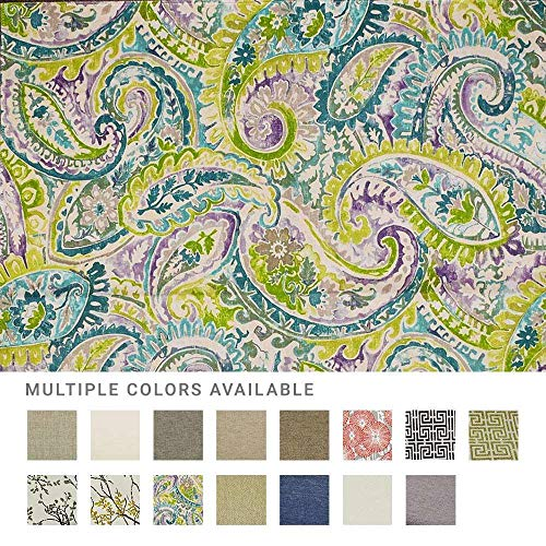 eLuxurySupply Fabric by The Yard - 100% Polyester Upholstery Sewing Fabrics with LiveSmart Technology - Nahla Waterlily Pattern