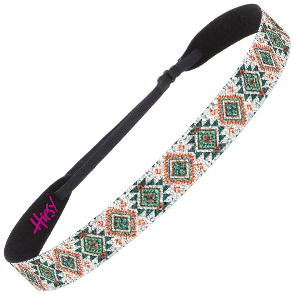 Hipsy Women's Adjustable Cute Fashion Hippie Headbands Hairband Gift Pack (Teal & Orange Aztec 1pk)