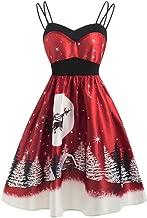 TOPBIGGER Women Halloween Dresses Vintage A-Line Dresses Cocktail Swing Party Dress