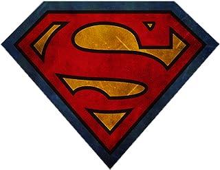 Superman S Logo Door Mat Flannel Non-slip Round Floor Mat Rug Carpets Multi Size