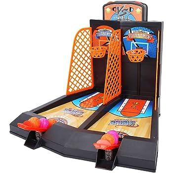 VGEBY1 Juguetes de Mesa de Juego de Baloncesto con 2 Jugadores para Adultos, niños, Juguetes de liberación de presión: Amazon.es: Deportes y aire libre