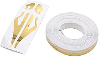 uxcell 12mm Vinyl Striping Pin Stripe Double Line Tape Car Decal Sticker Gold Tone
