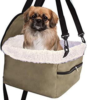 Xergur Pet Dog Booster Seat - Portable Collapsible Dog Car Carrier, Waterproof Car Seat with Clip-On Safety Leash, Zipper ...