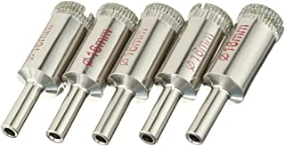 uxcell 5PCS 16mm Diamond Coated Hole Saw Drill Bits for Glass Ceramic Tile Marble Rock Porcelain