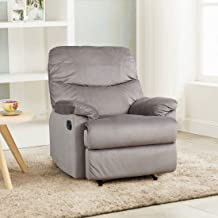 HomeTown Daniel Fabric Single Seater Recliner in Mocha Colour