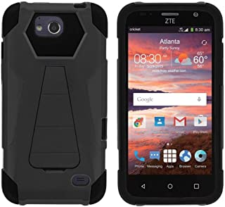 TurtleArmor | Compatible with ZTE Majesty Pro Case | ZTE Majesty Pro Plus Case [Dynamic Shell] Duo Protection Hybrid Case Impact Rubber Cover Hard Kickstand - Black