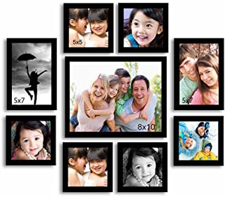 Art Street Onmium Black Photo Frame - Set of 9 Individual Wall Photo Frames