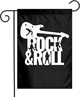 Vinilo Rock And Roll Garden Flag Yard Flags For Celebration,Festival,Home Decor,Outdoor,Garden...