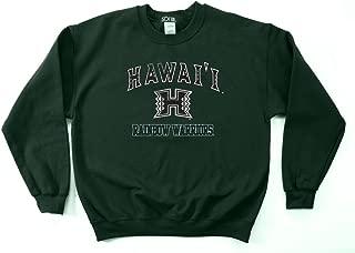 NCAA Hawaii Rainbow Warriors 50/50 Blended 8-Ounce Vintage Mascot Crewneck Sweatshirt