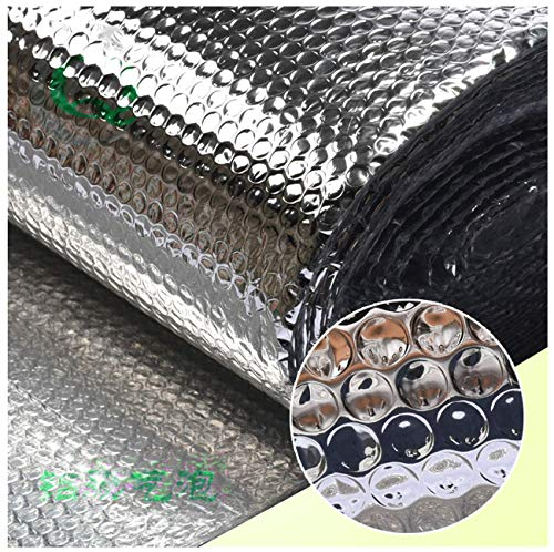 Autoadhesivo Aluminio Lámina Aislante Envoltura Aislante Barrera Térmica Aluminio Aislante Con Burbujas Para Buhardilla Desván Paredes Caravanas Y Áticos Reflector De Calor Aisla(Color:4mm,Size:1×10m)