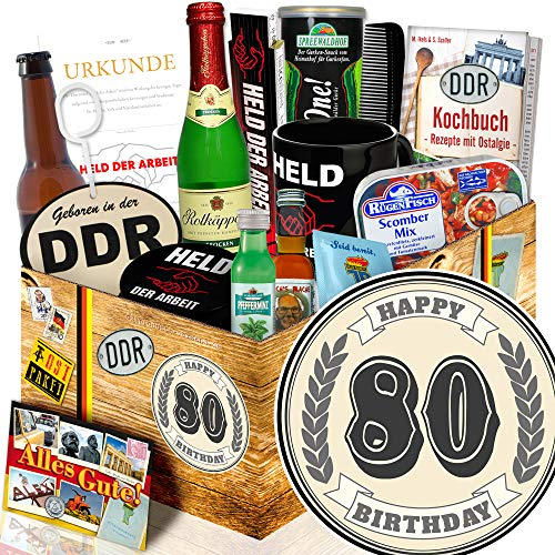 Geschenk zum 80. - 80 Geburtstag Geschenke Mann - Männerset DDR