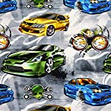 MAGAM-Stoffe The Fast and the Furious Jersey Kinder Stoff