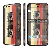 Decal Mania Skin Sticker [Matching Wallpaper] - [Cassette Awesome Mix Vol. 1] Compatible for Google [Pixel XL] [5.5' Screen Size]