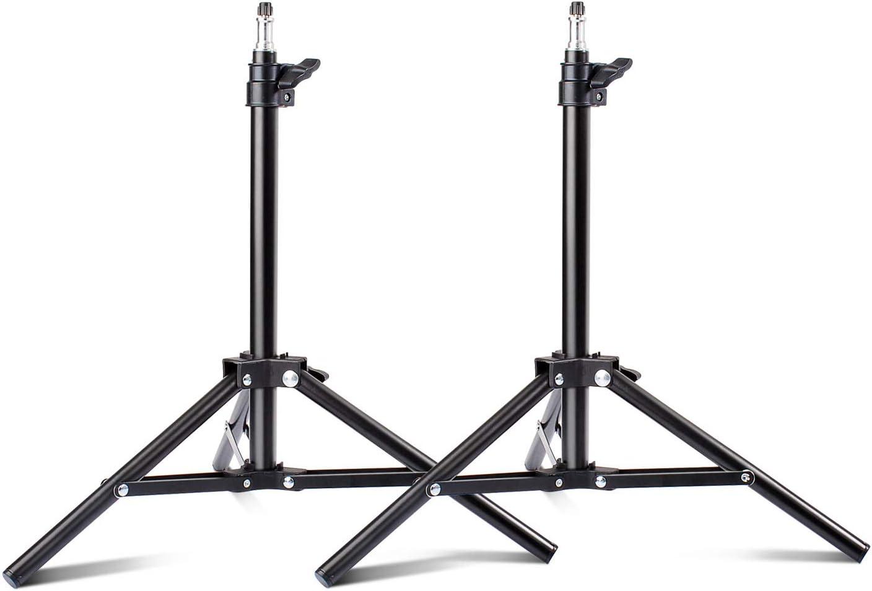Table Import Top 55% OFF Light Stand 2 Packs Aluminum Photograph Mini Riqiorod