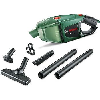 Bosch EasyVac 12 - Aspirador manual a batería, 12 V, 2,5 Ah, 3 boquillas Capacidad de colector de polvo 380 ml, Verde: Amazon.es: Bricolaje y herramientas