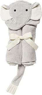 Elegant Baby Top Selling Bath Gift - Cotton Hooded Towel Wrap, Soft Grey Elephant