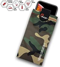PHOOZY XP3 Series, Rugged Thermal Phone Case - Prevent Phone from Overheating in The Sun, Fits iPhone 8/X/XR/11 Pro, Galaxy S8/S9/S10, and Similar Sized Phones [Plus - Woodland Camo]