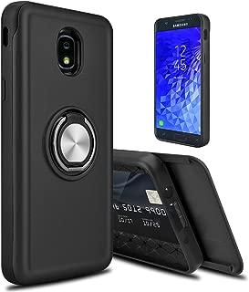 lovpec Hard Galaxy J7 2018 / J7 Refine / J7 Star / J7V 2nd Gen / J7 Top Case, [Cards Slot] Ring Magnetic Holder Kickstand Shockproof Protective Phone Case Cover for Samsung Galaxy J7 2018 (Black)