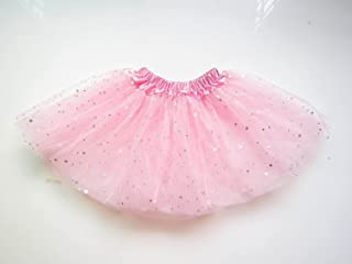 GoGokids  チュチュスカート ダンススカートコスチューム  子供のスカート 女の子 子供 キッズ ダンス Tutu チュチュスカート 3層チュール バレエドレス ファンシー コスチューム 舞台衣装 (ピンク)
