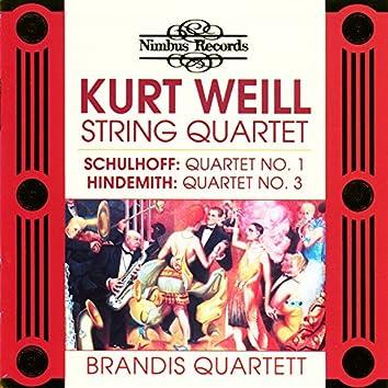 Schulhoff, Weill & Hindemith: String Quartets