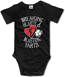 Breaking Hearts and Blasting Farts Gift Sleepwear Bodysuits Baby Onesie