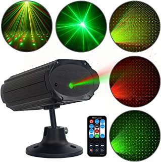 PParty Lights DJ Disco Light, Stage Lights SPOOBOOLA Sound Activated with Remote Control Mini Stage Lights Strobe Projector for Club Home Party Ballroom Bands Wedding Show Bar Karaoke KTV