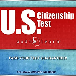 US Citizenship Test AudioLearn audiobook cover art