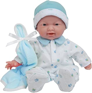 JC Toys, La Baby Boutique 11-inch Small Soft Body Baby Doll in Blue with Realistic Features (Ages 12 Months+)