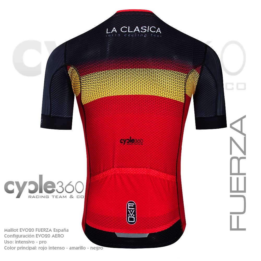 Cycle360 Maillot Ciclismo Manga Corta, Gama Deportiva EVO20. Mod ...