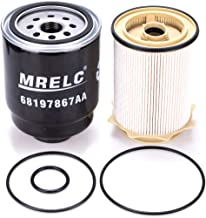 MRELC Dodge Ram 6.7L Cummins Diesel Fuel Filter Water Separator Set for 2013-2018 Dodge Ram 2500 3500 4500 5500 6.7L Turbo...