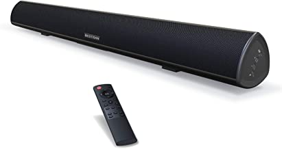 Best Sound Bar, 100Watt Bestisan Soundbar for TV, Wired & Wireless Bluetooth 5.0 Sound Bar(40 Inch, 6 Drivers, 105dB, Optical Cable Included, Remote Control, Bass Adjustable and Wall Mountable) Review