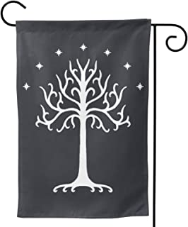 White Tree of Gondor Double-Sided Decorative Garden Flag Home House Flag -12.5x18inch | 28x40inch