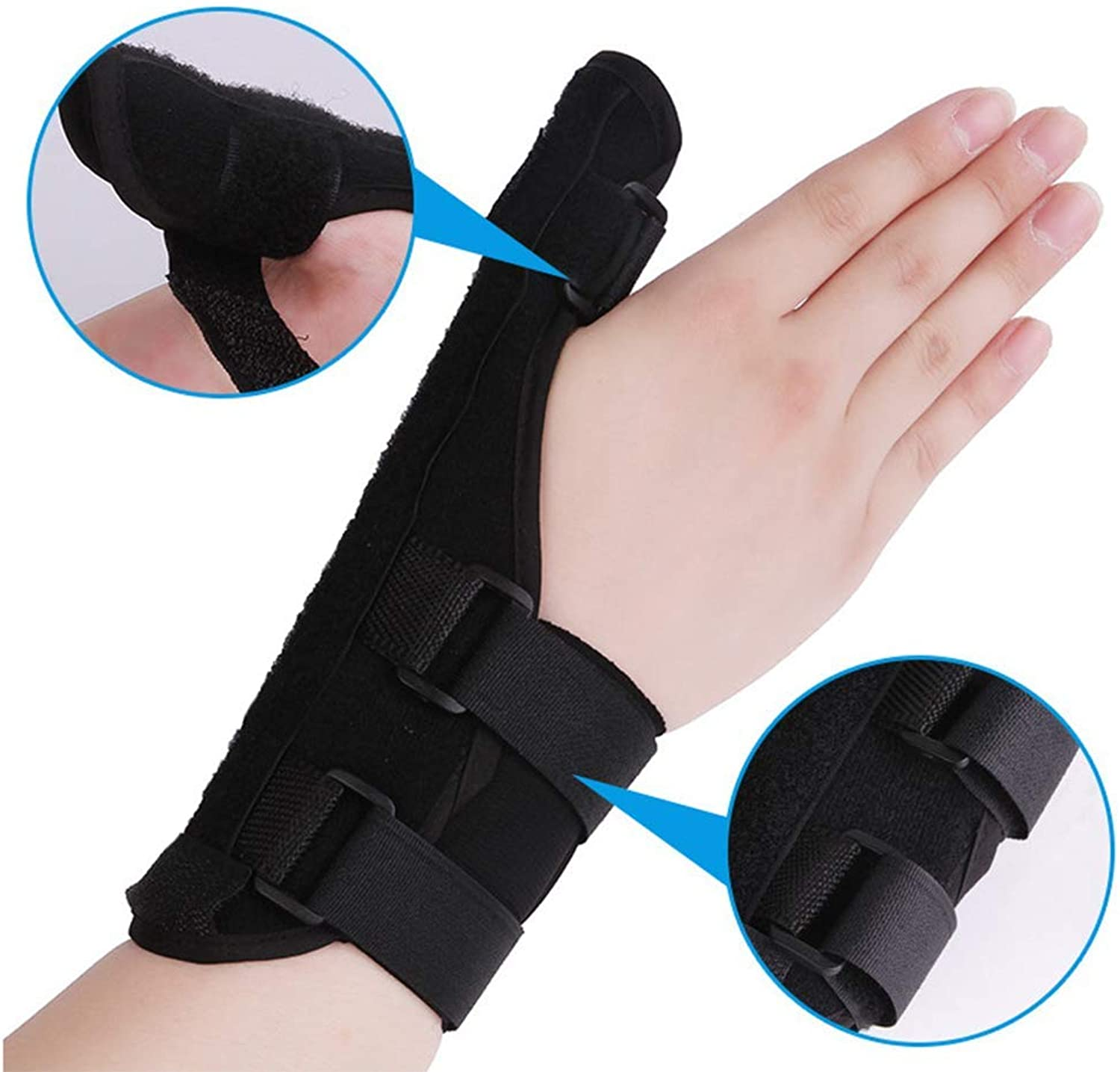 Neoprene Thumb Support Bracespica  Splint Helps Relieve Thumb Pain & Injury, Tendonitis of The Wrist, De Quervain's, and Sprains, Left Hand Right Hand,Left,S