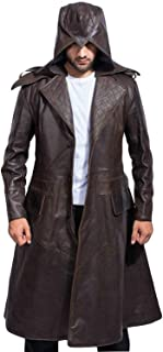 Assassins Creed Syndicate Ninja Jacob Frye Jacket Brown Leather Trench Coat