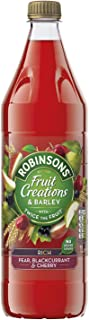 Robinsons Fruit Creations and Barley Rich Pear, Blackcurrant and Cherry Squash, 1 L